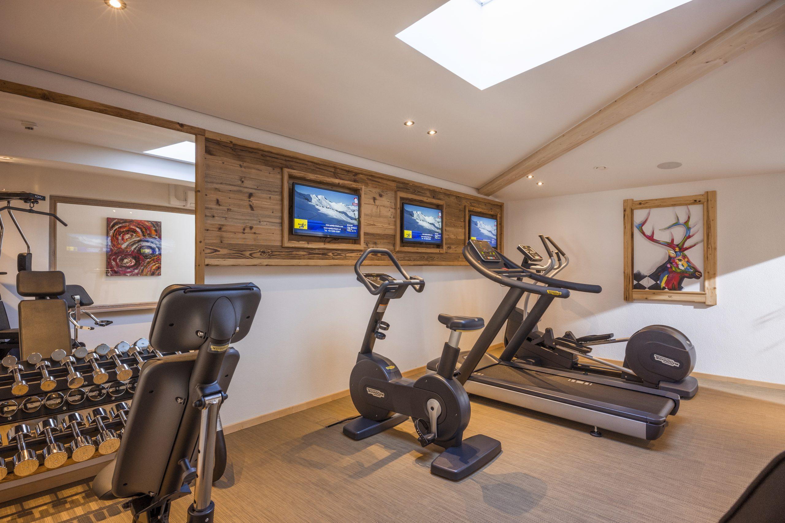 Fitness room & pool